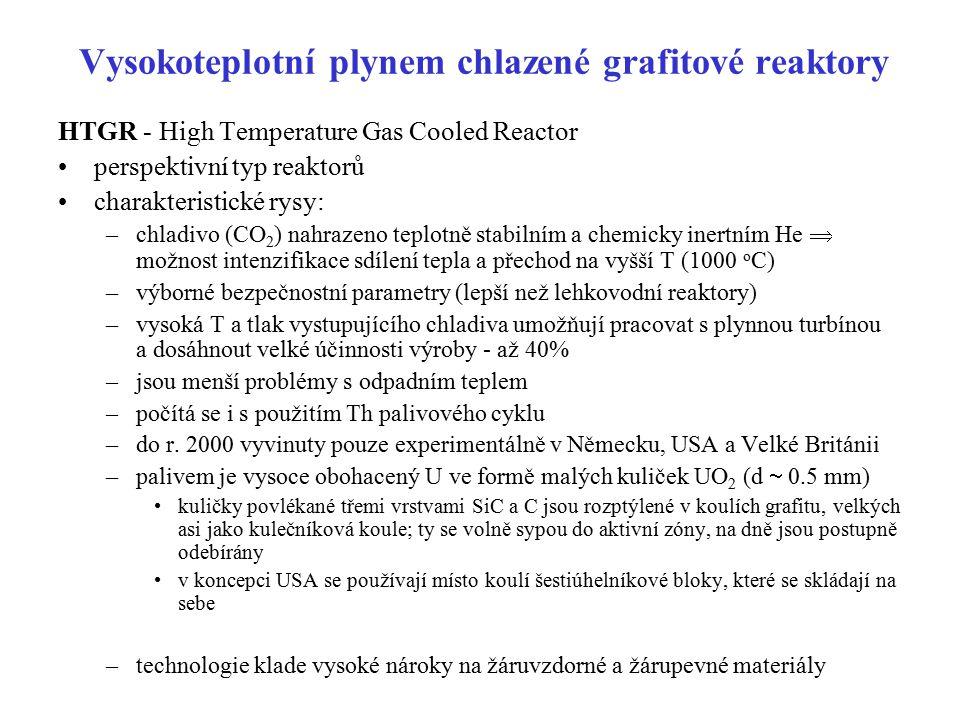 Vysokoteplotní plynem chlazené grafitové reaktory