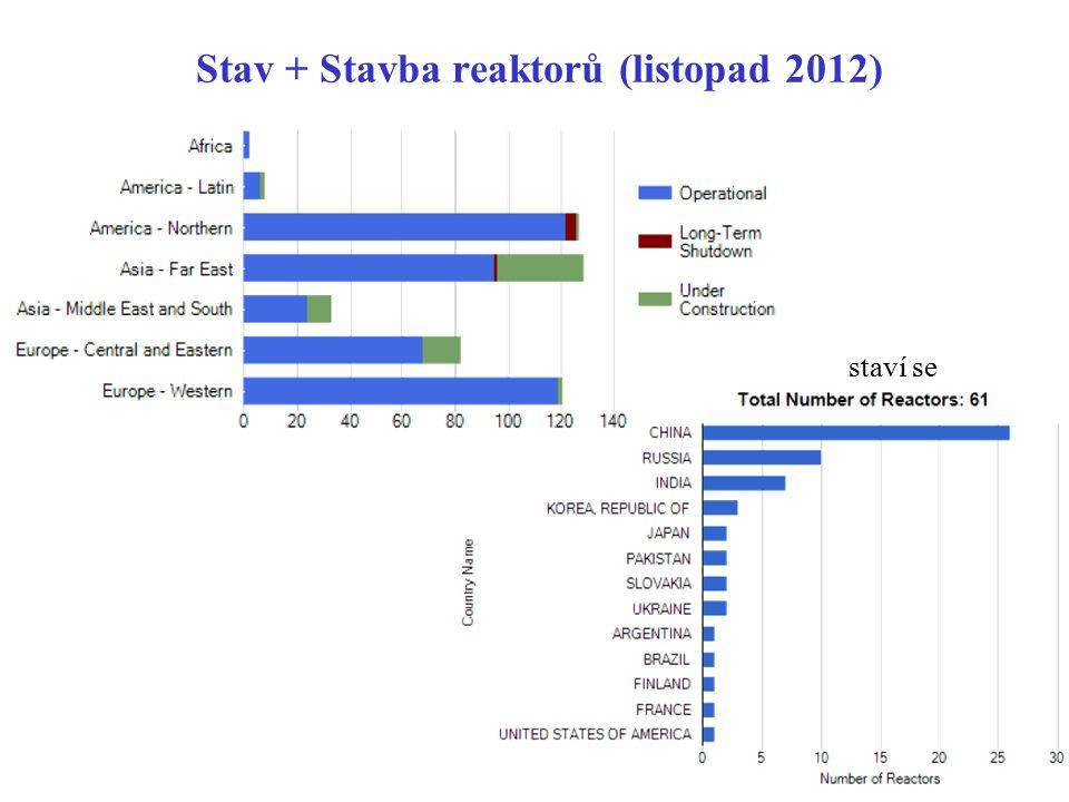 Stav + Stavba reaktorů (listopad 2012)
