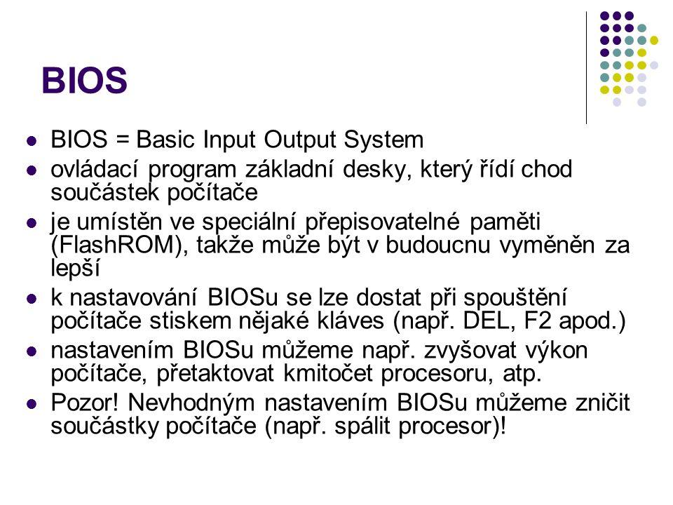 BIOS BIOS = Basic Input Output System