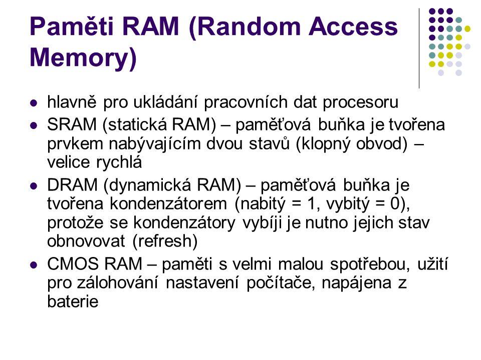 Paměti RAM (Random Access Memory)