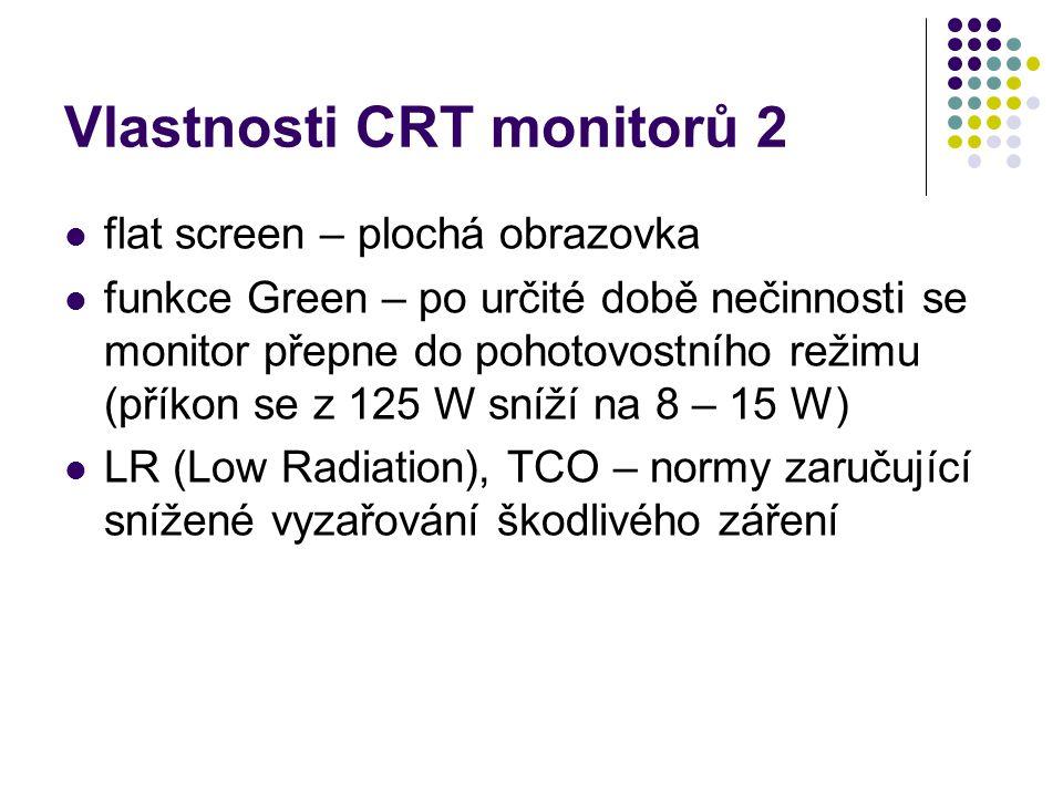 Vlastnosti CRT monitorů 2