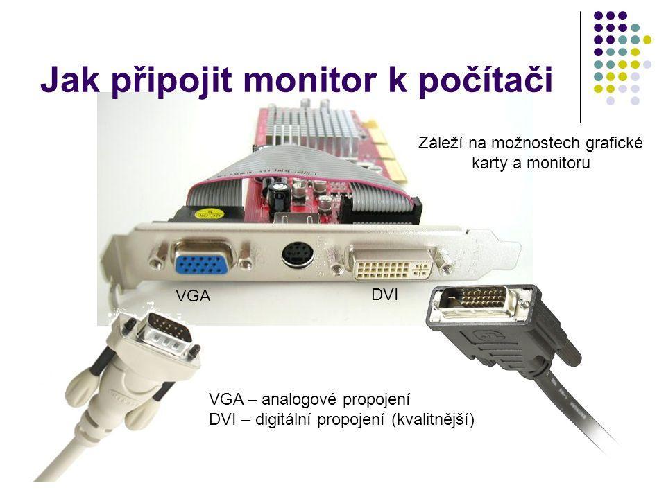 Jak připojit monitor k počítači