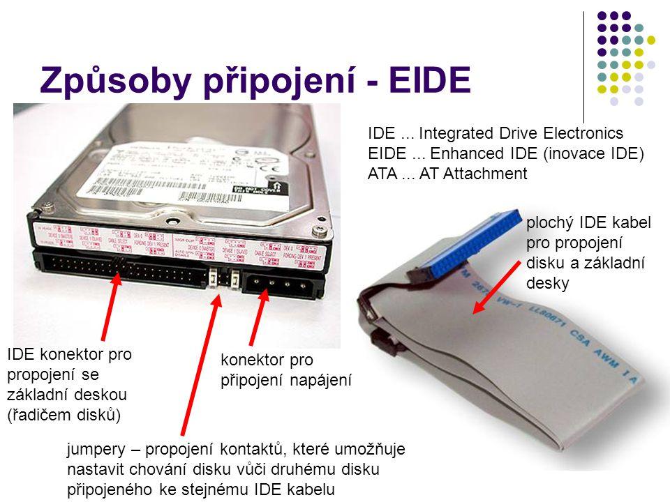 Způsoby připojení - EIDE