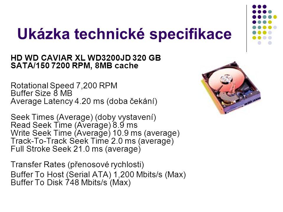 Ukázka technické specifikace