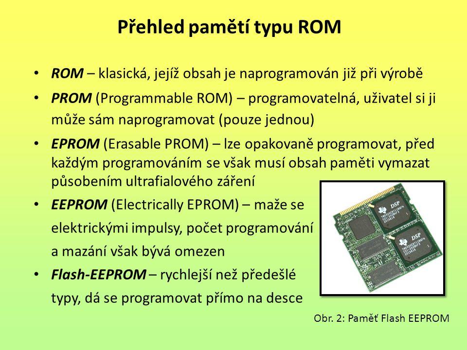 Přehled pamětí typu ROM
