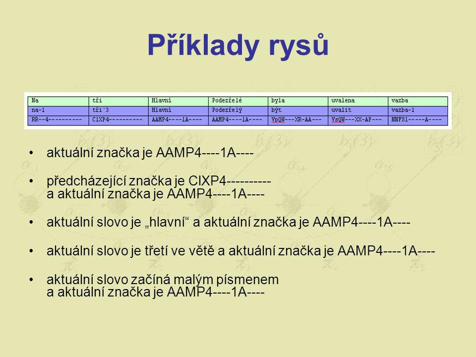 Příklady rysů aktuální značka je AAMP4----1A----