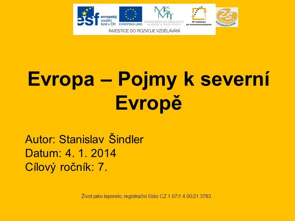 Evropa – Pojmy k severní Evropě