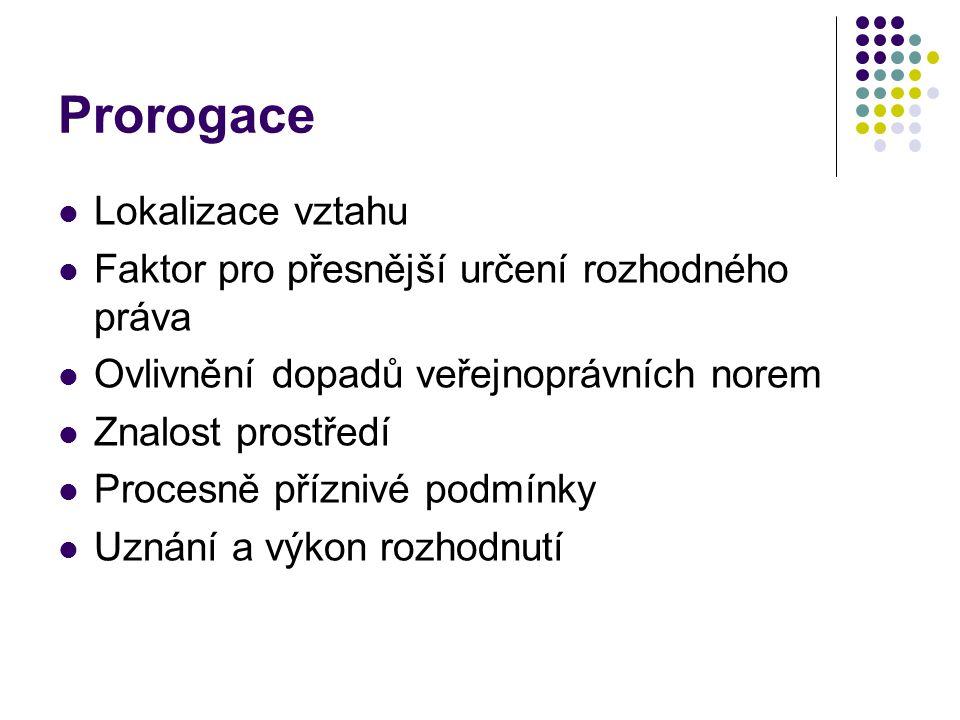Prorogace Lokalizace vztahu