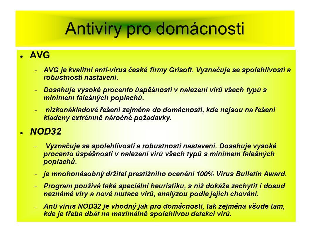 Antiviry pro domácnosti