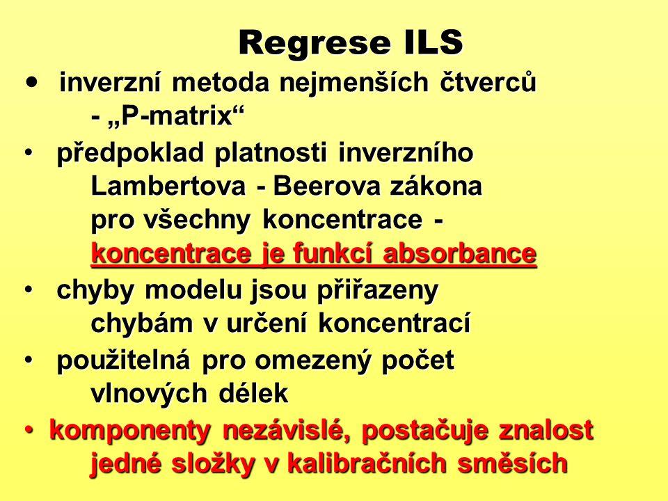 """Regrese ILS inverzní metoda nejmenších čtverců - """"P-matrix"""