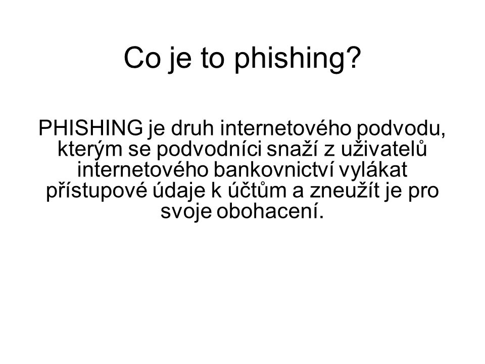 Co je to phishing