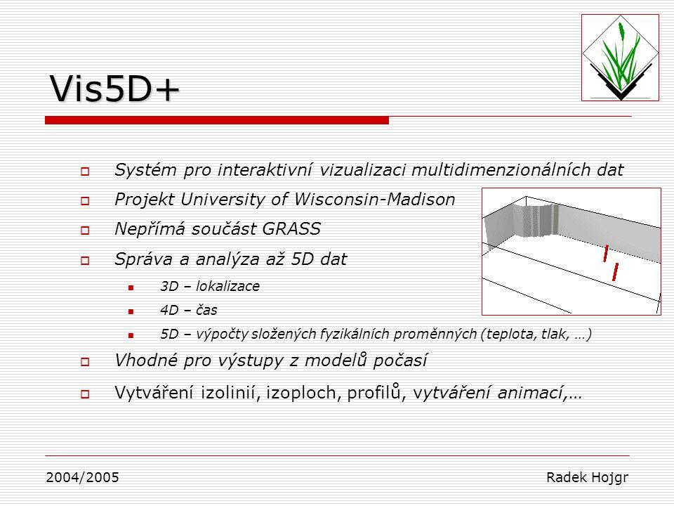 Vis5D+ Systém pro interaktivní vizualizaci multidimenzionálních dat