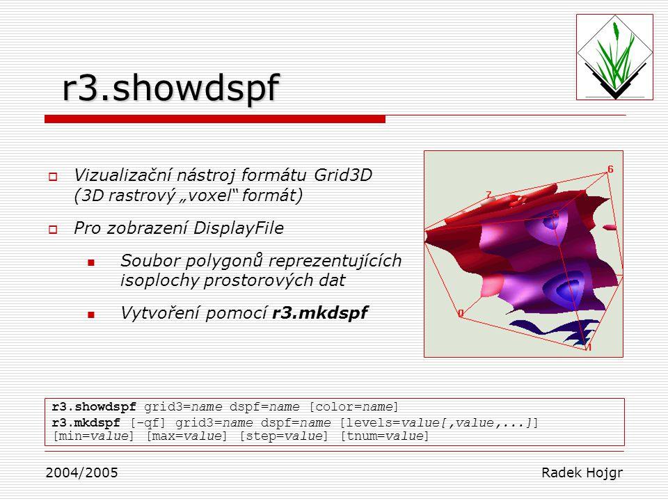 """r3.showdspf Vizualizační nástroj formátu Grid3D (3D rastrový """"voxel formát) Pro zobrazení DisplayFile."""