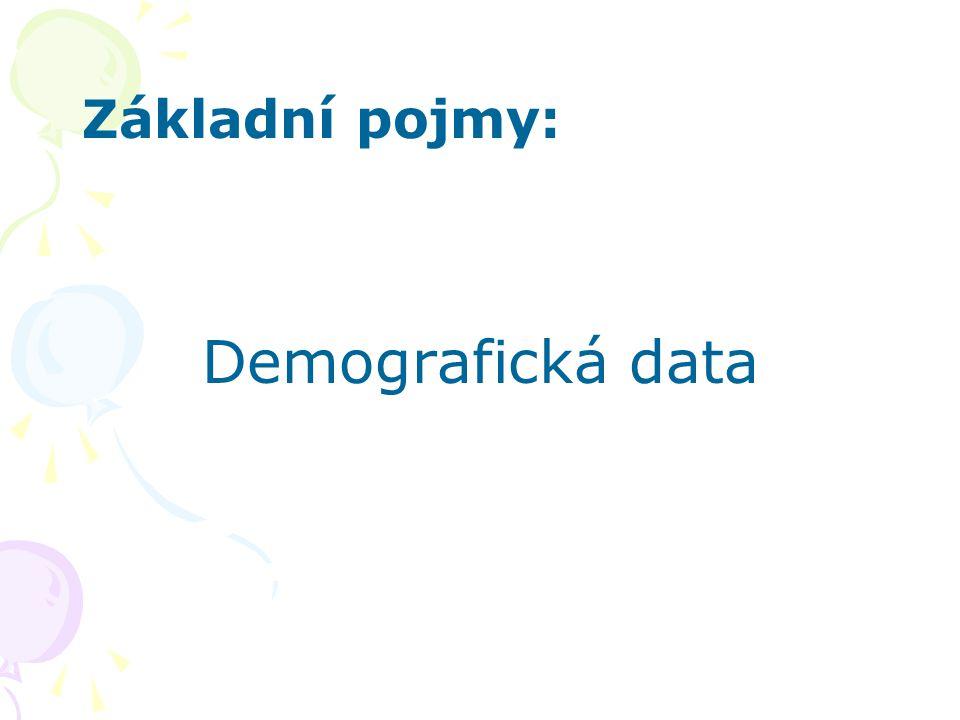 Základní pojmy: Demografická data