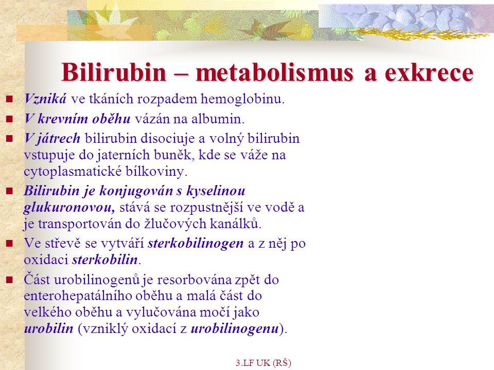Bilirubin – metabolismus a exkrece