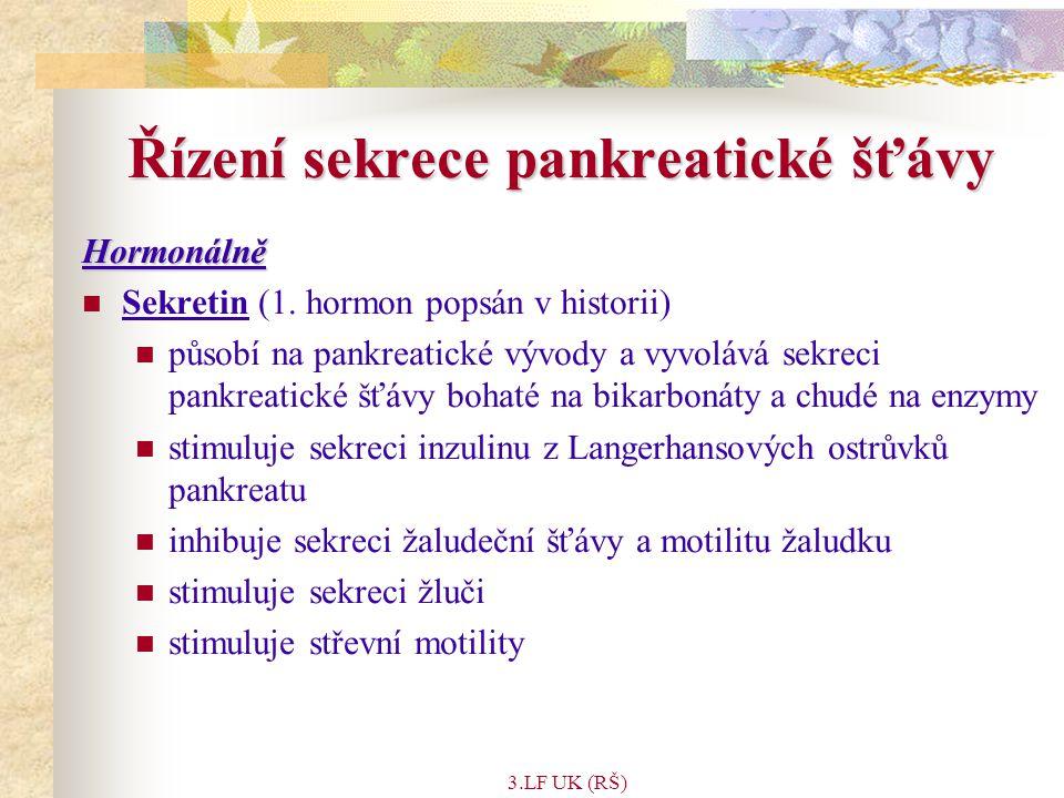Řízení sekrece pankreatické šťávy