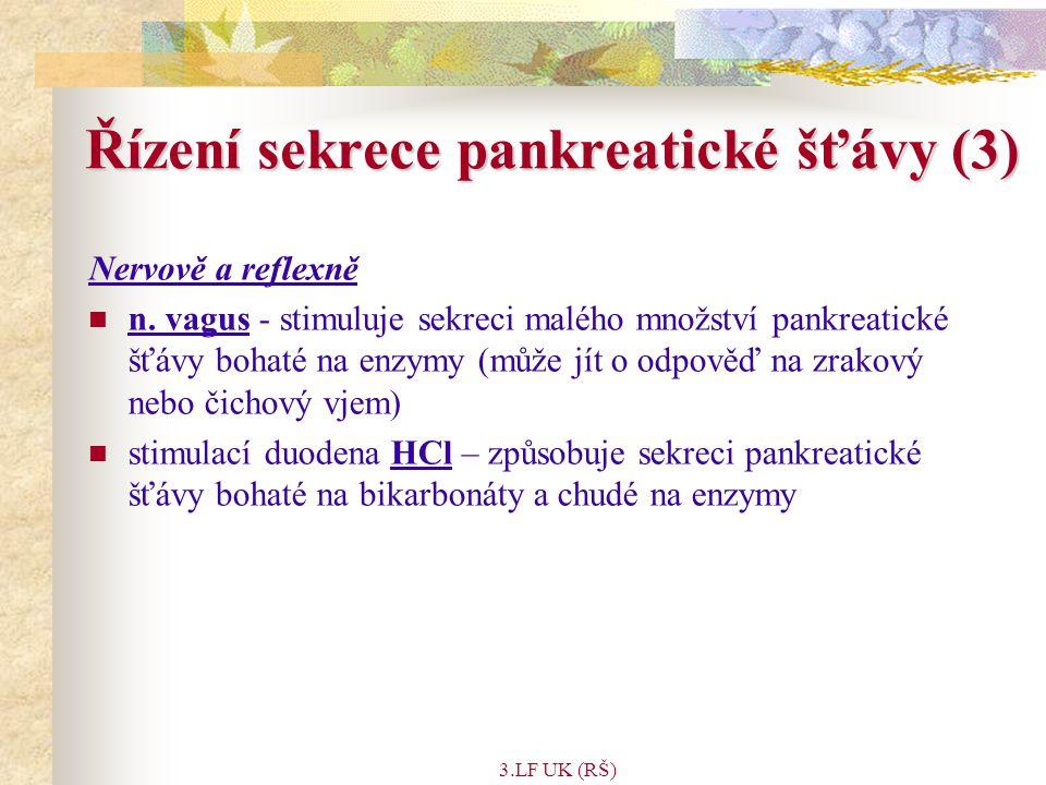 Řízení sekrece pankreatické šťávy (3)