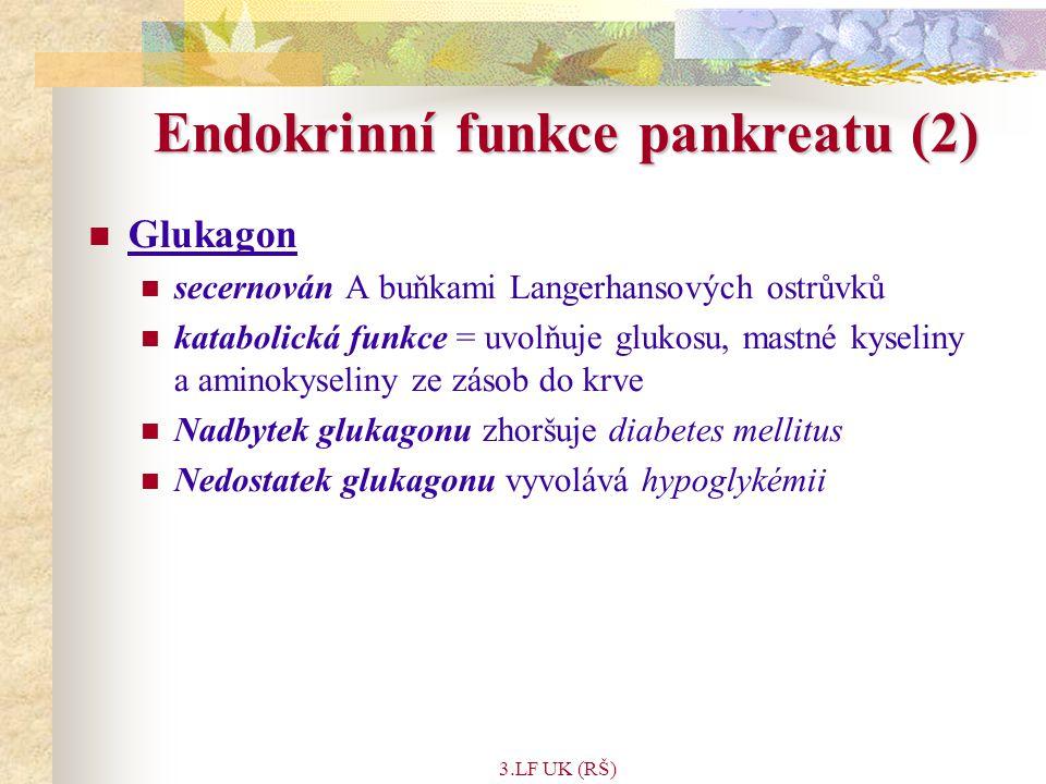 Endokrinní funkce pankreatu (2)