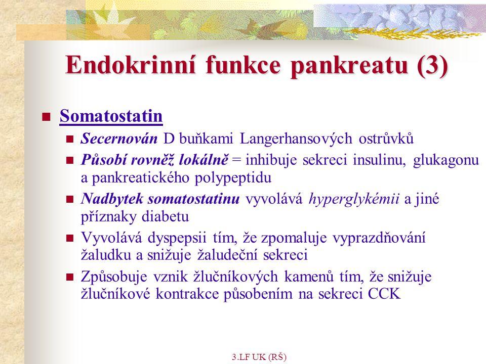 Endokrinní funkce pankreatu (3)