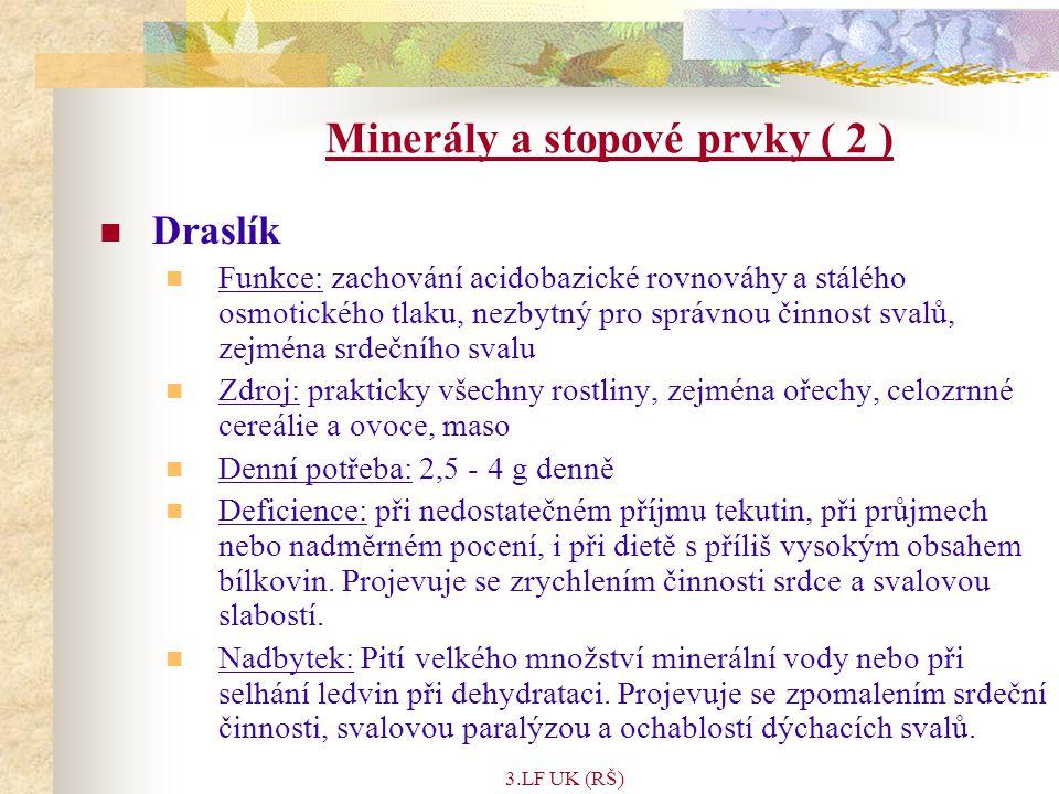 Minerály a stopové prvky ( 2 )