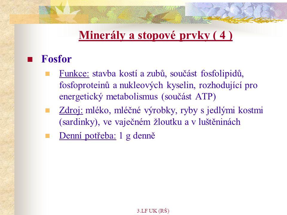 Minerály a stopové prvky ( 4 )