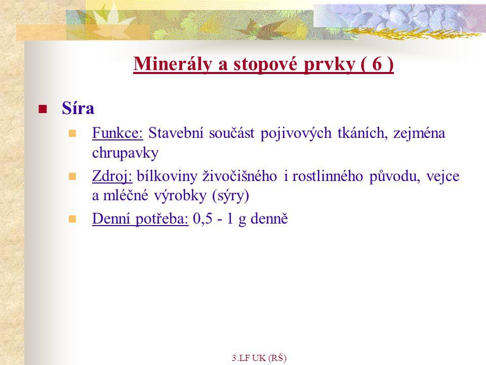 Minerály a stopové prvky ( 6 )