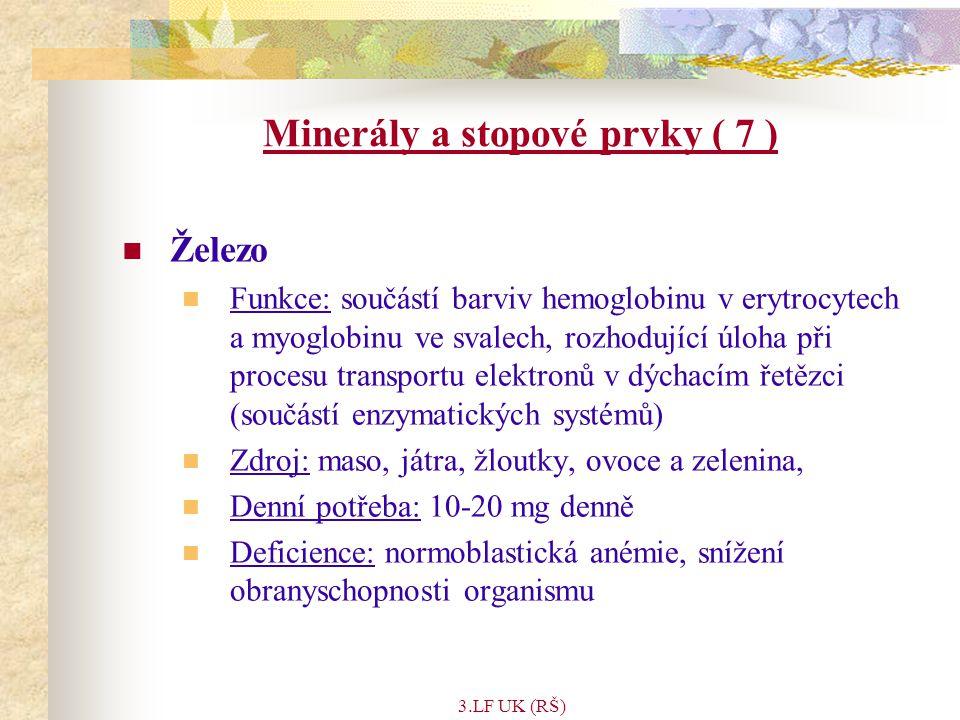 Minerály a stopové prvky ( 7 )