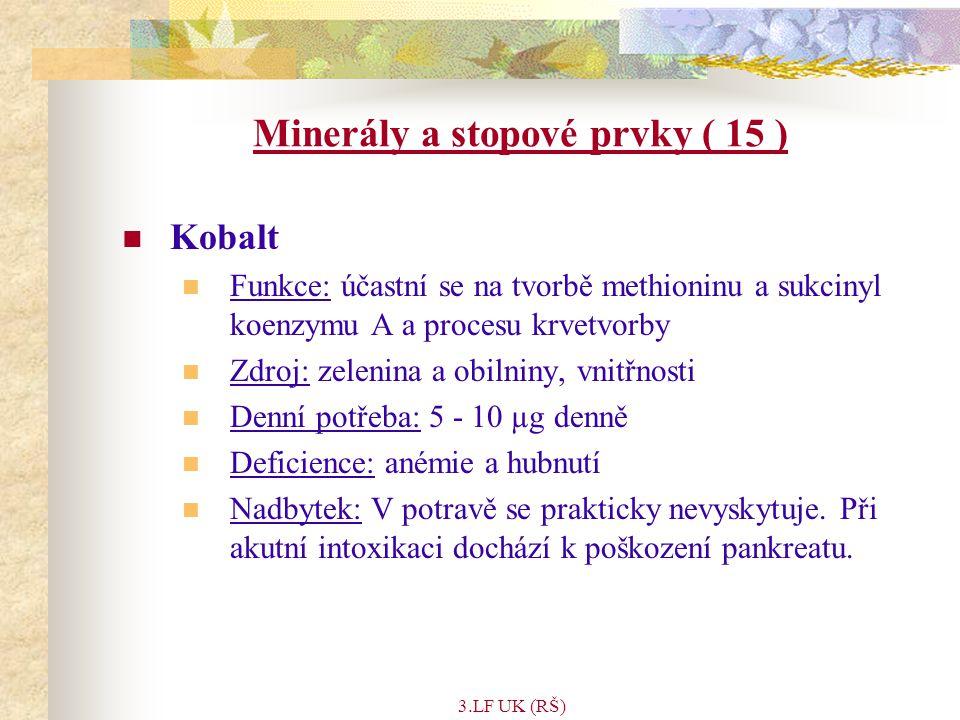 Minerály a stopové prvky ( 15 )