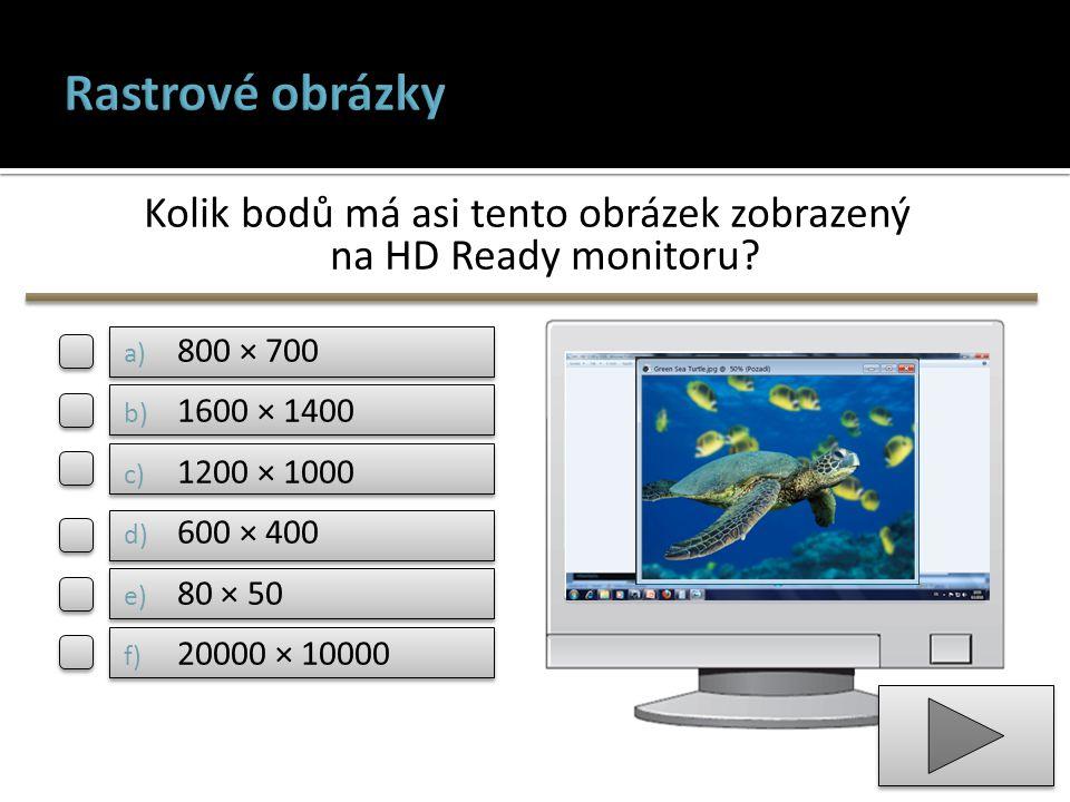 Kolik bodů má asi tento obrázek zobrazený na HD Ready monitoru
