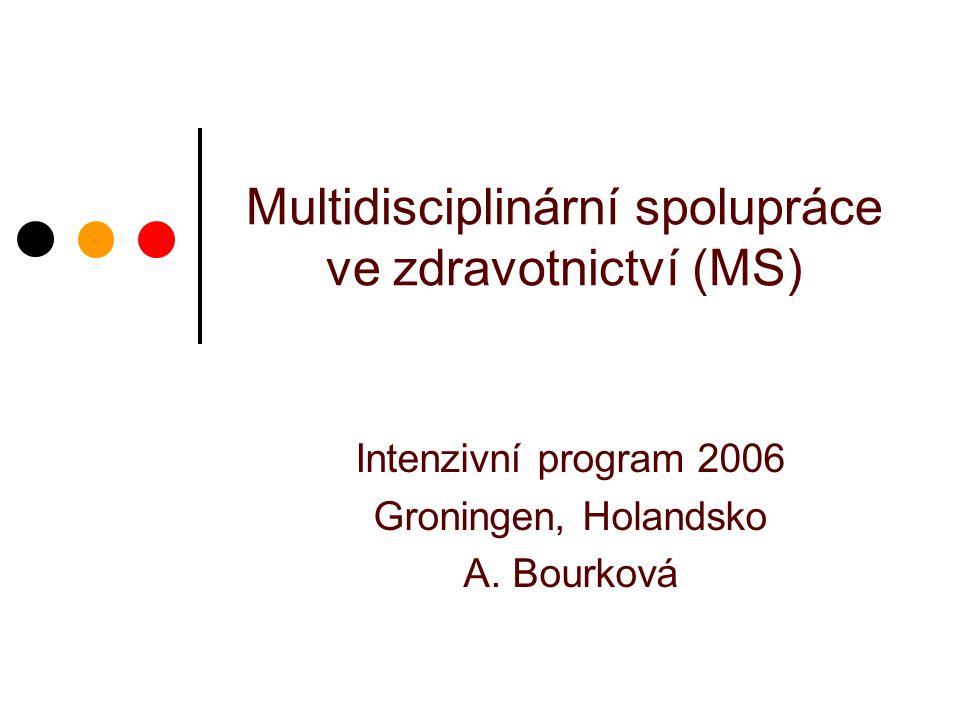 Multidisciplinární spolupráce ve zdravotnictví (MS)