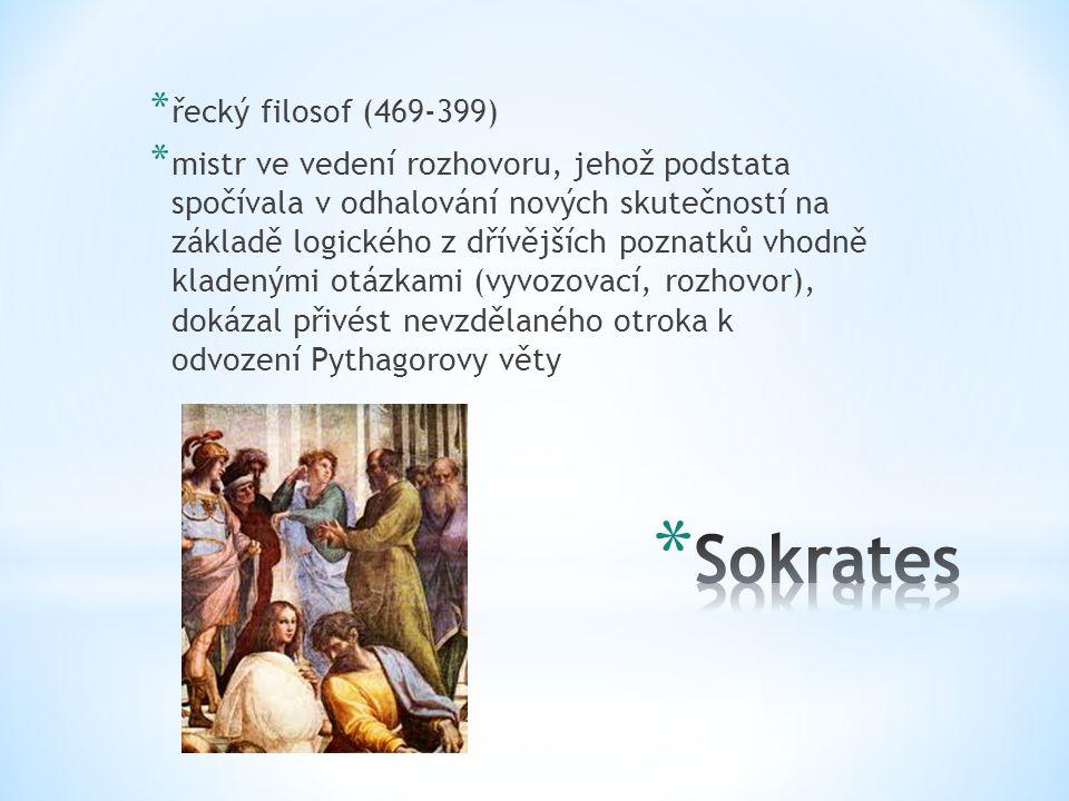 Sokrates řecký filosof (469-399)