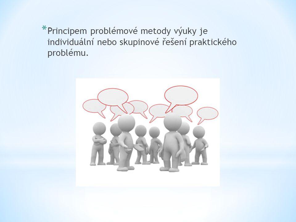 Principem problémové metody výuky je individuální nebo skupinové řešení praktického problému.
