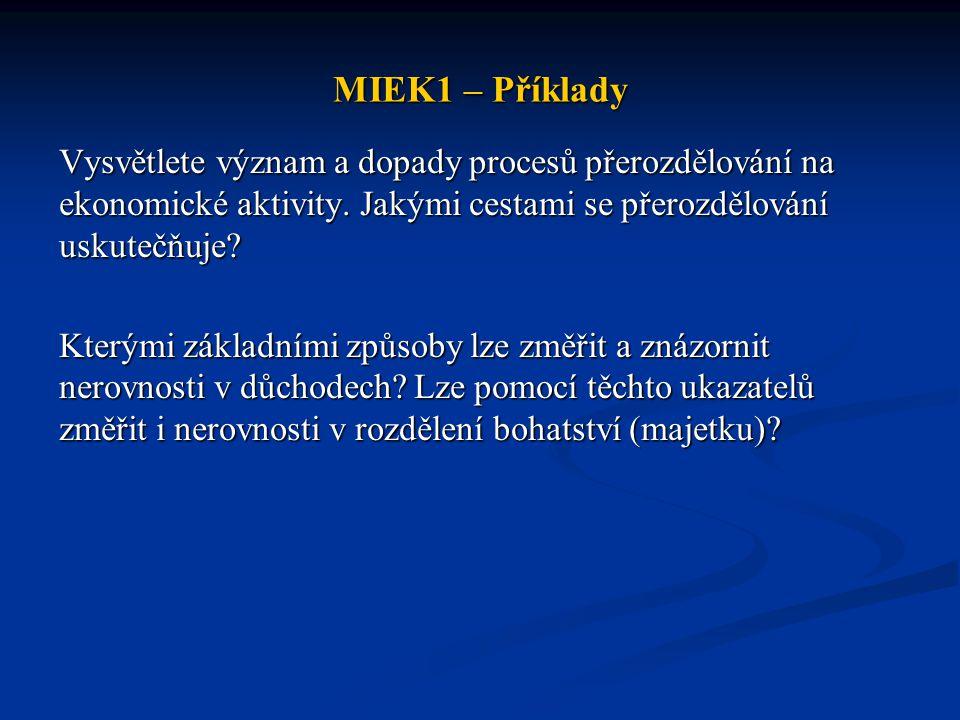 MIEK1 – Příklady