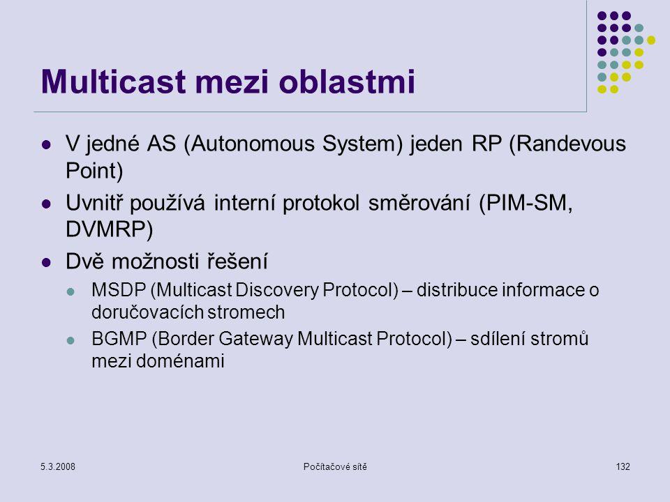 Multicast mezi oblastmi