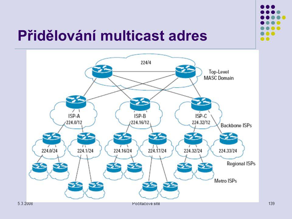 Přidělování multicast adres