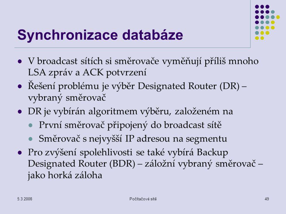 Synchronizace databáze