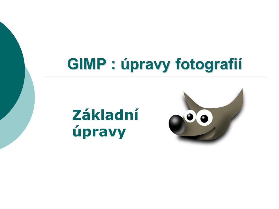 GIMP : úpravy fotografií