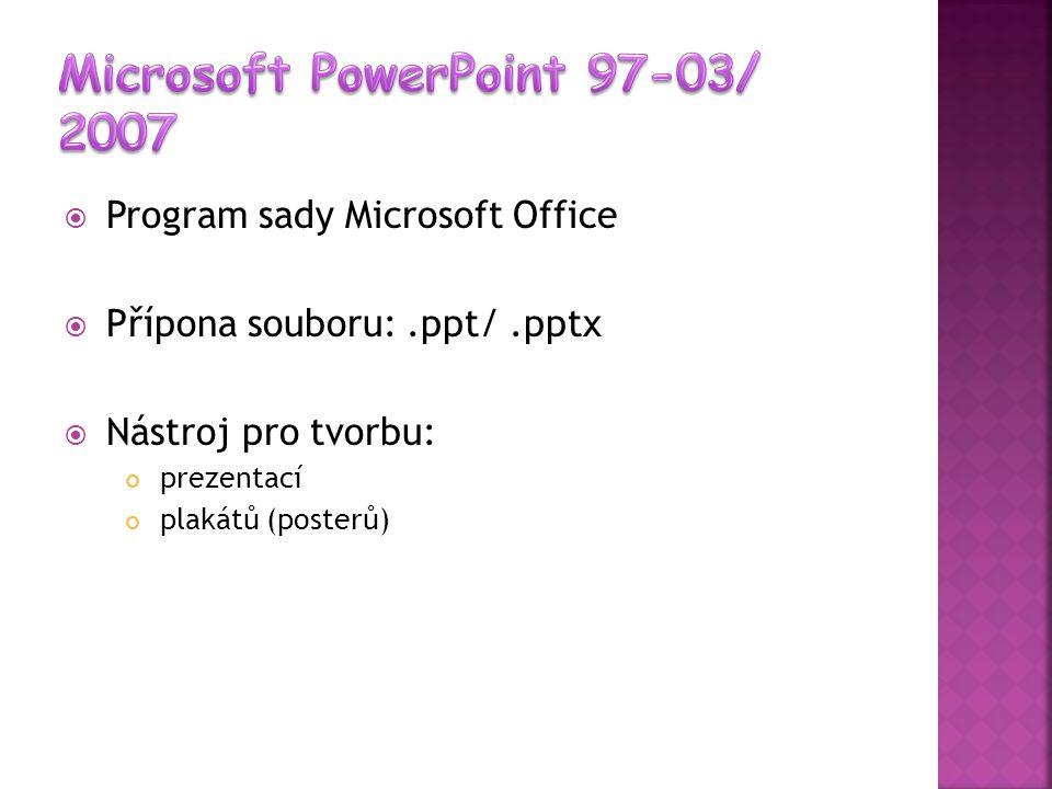 Microsoft PowerPoint 97-03/ 2007