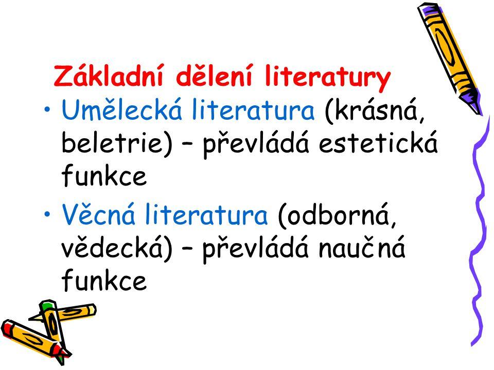 Základní dělení literatury