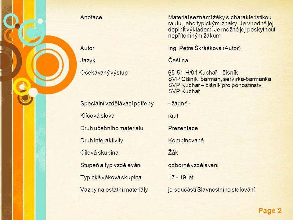 Anotace. Materiál seznámí žáky s charakteristikou