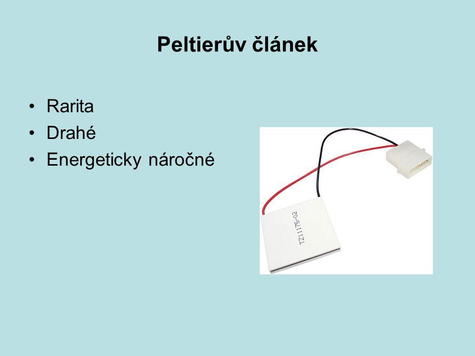 Peltierův článek Rarita Drahé Energeticky náročné