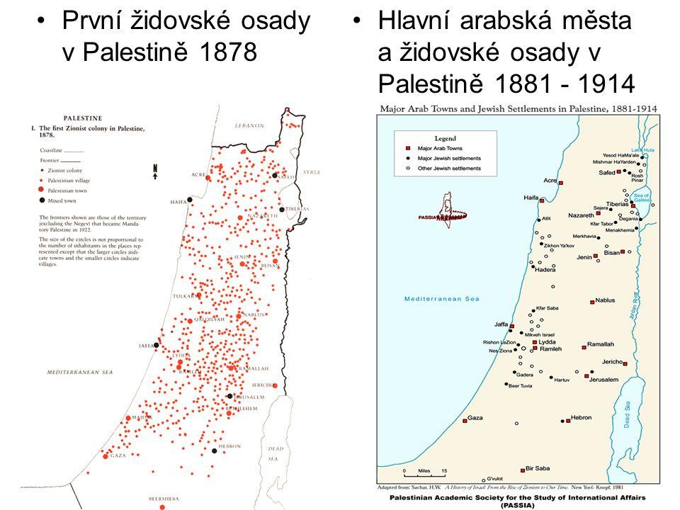 První židovské osady v Palestině 1878