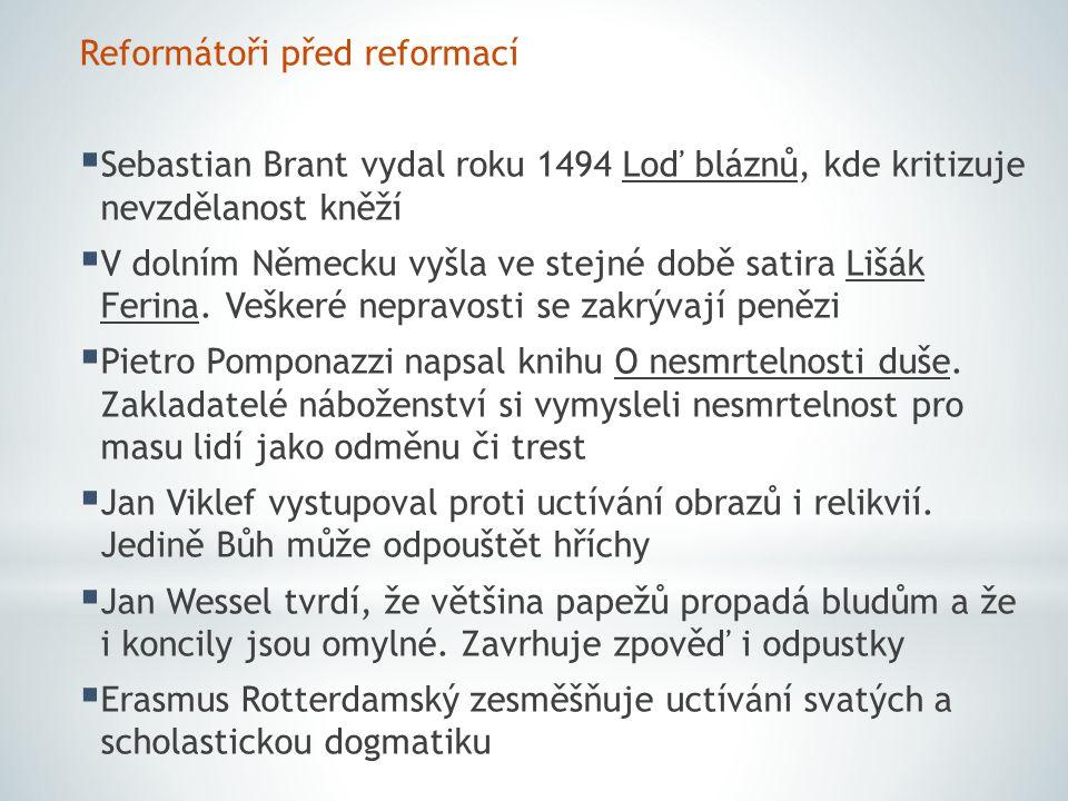 Reformátoři před reformací
