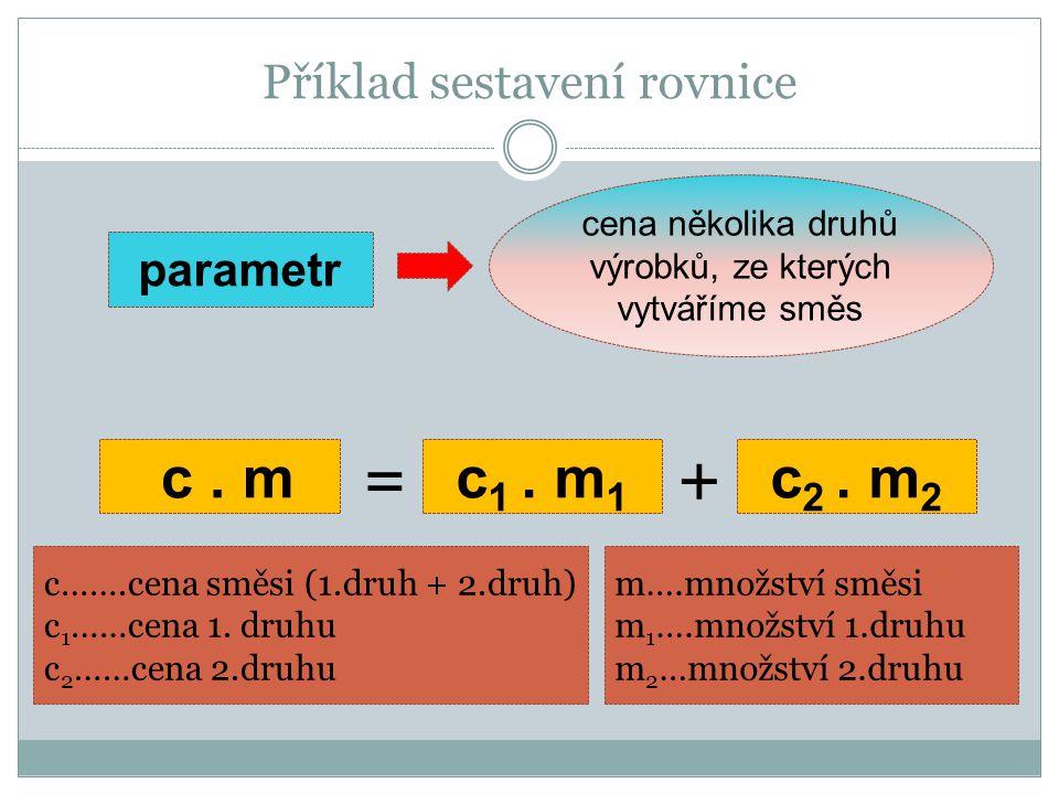 Příklad sestavení rovnice