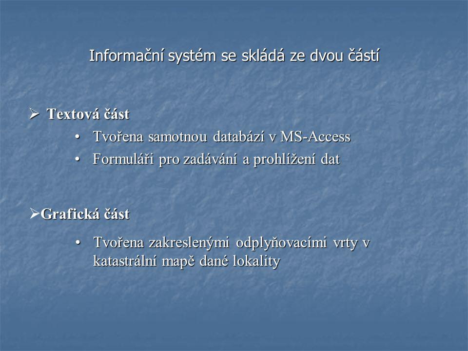 Informační systém se skládá ze dvou částí