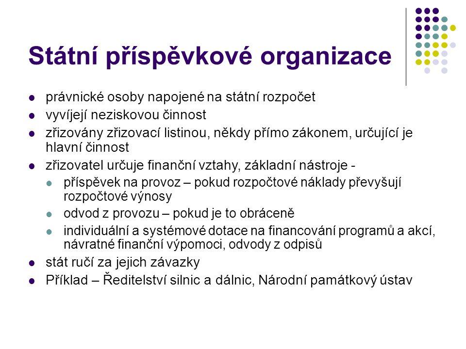 Státní příspěvkové organizace