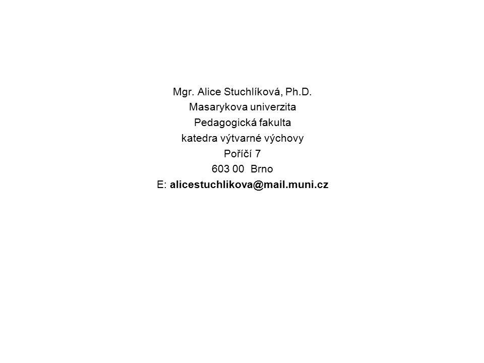 Mgr. Alice Stuchlíková, Ph. D