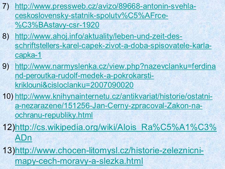 http://www.pressweb.cz/avizo/89668-antonin-svehla-ceskoslovensky-statnik-spolutv%C5%AFrce-%C3%BAstavy-csr-1920