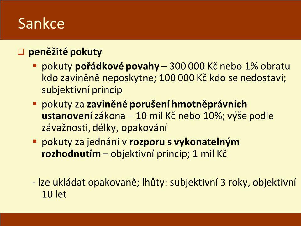 Sankce peněžité pokuty