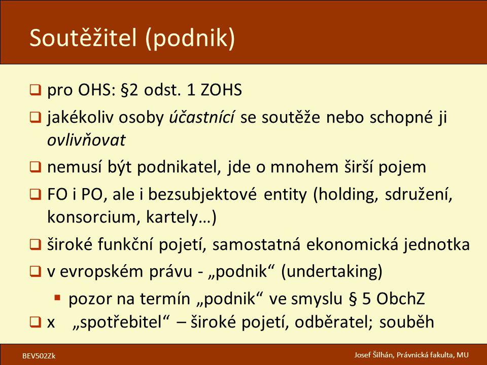 Soutěžitel (podnik) pro OHS: §2 odst. 1 ZOHS